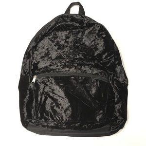 NWOT BLACK VELVET BACKPACK/BOOKBAG